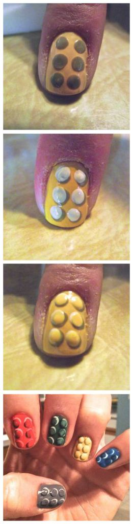lego nail tutorial, by choco-early from reddit!