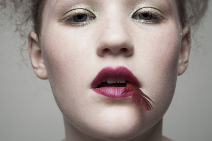 a portrait shot by liz von hoene of her daughter piper for a bird series