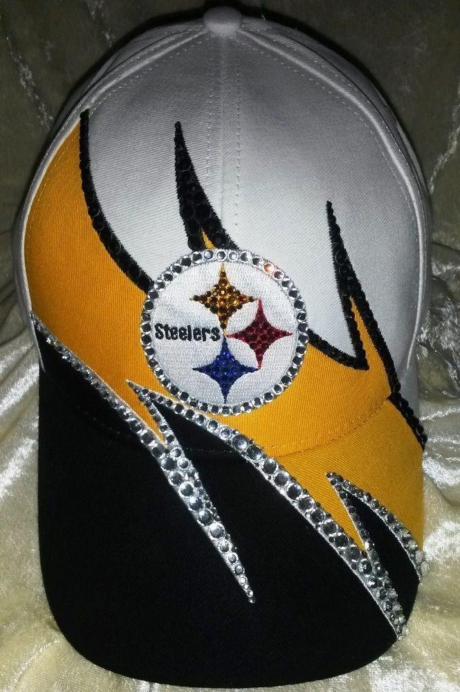 Pittsburgh Steelers Women's Ladies Rhinestone Ultra Bling NFL Cap Hat ~NEW~ #PittsburghSteelers