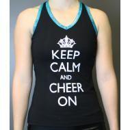 Camisole - KEEP CALM AND CHEER ON  http://kicksathleticks.lightspeedwebstore.com/31pf04-090203-22a8-camisole-goutte-deau-keep-calm-and-cheer-on/dp/1000000016