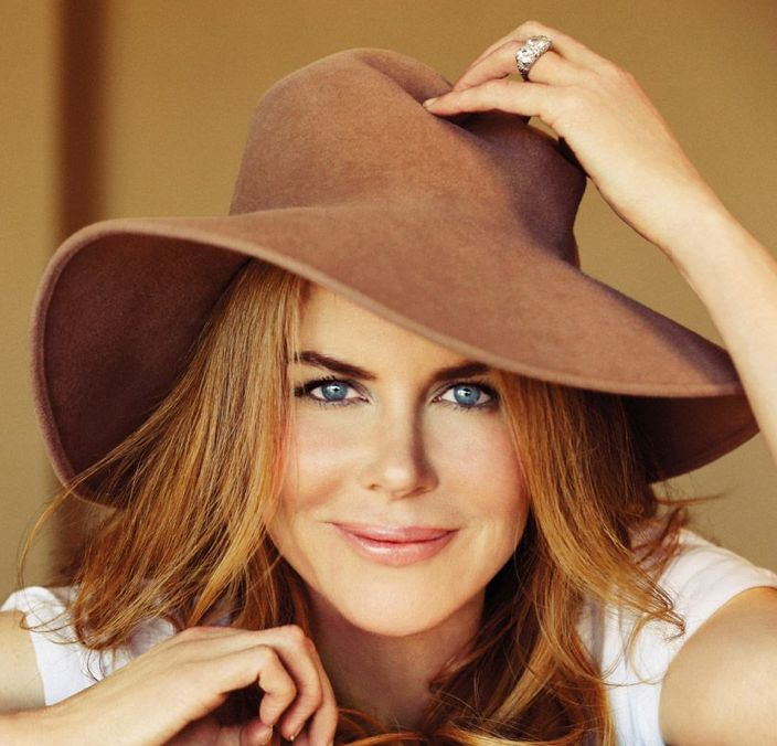 Actress Nicole Kidman in Vanity Fair Italia, wearing a Patricia Underwood Camel Velour Floppy.