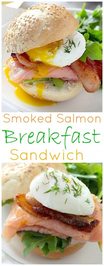 This is the Ultimate Smoked Salmon Breakfast Sandwich!!! So easy to whip up in minutes, but looks and tastes INCREDIBLE. Perfect for brunch, Mother's Day, or Easter!