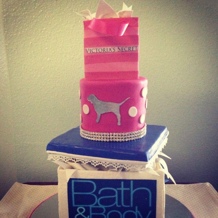 24 best pink cakes images on pinterest pink cakes for Victoria secret bathroom ideas