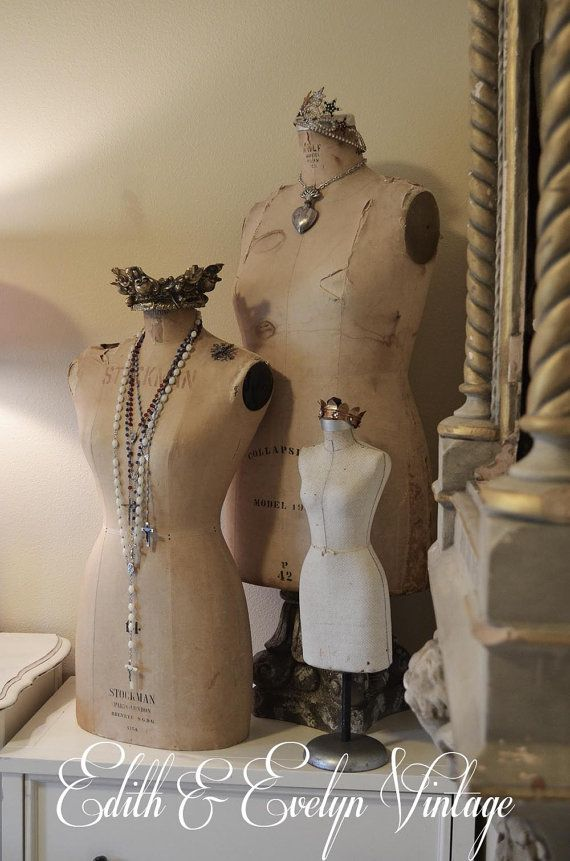 Vintage Half Scale Mannequin Sample Dress Form by edithandevelyn, $395.00