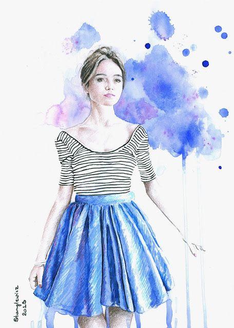 Aleksandra Stanglewicz fashion illustration