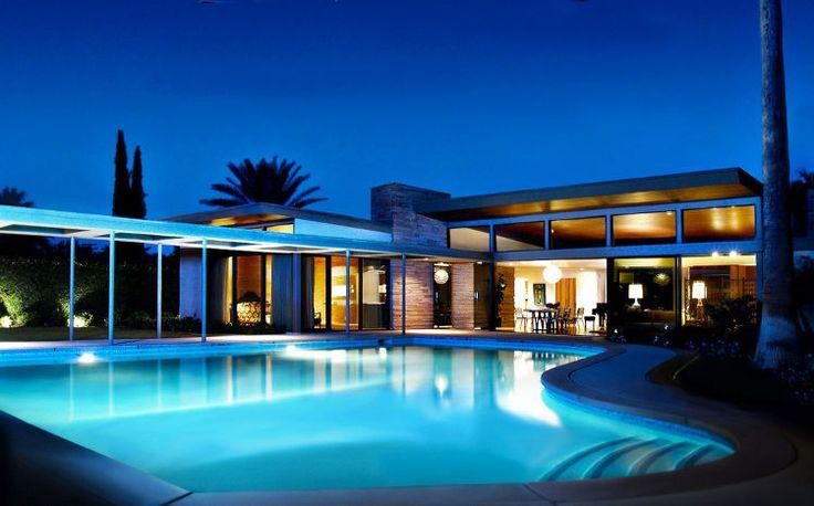 Sinatra Twin Palms house: Mid Century Modern, Sinatra House, Franksinatra, Dreams House, Modern Architecture, Palms Spring, Twin Palms, Midcentury, Frank Sinatra