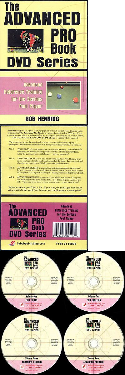 Books and Video 75195: Advanced Pro Book Dvd Set - Serious Pool Training For Competitive Players! -> BUY IT NOW ONLY: $107 on eBay!