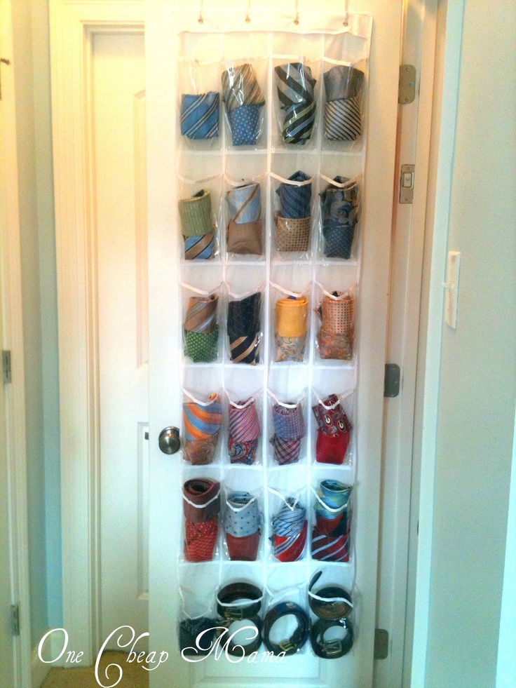 One Mama Uses Her Shoe Organizer For Hubby S Ties And Belts
