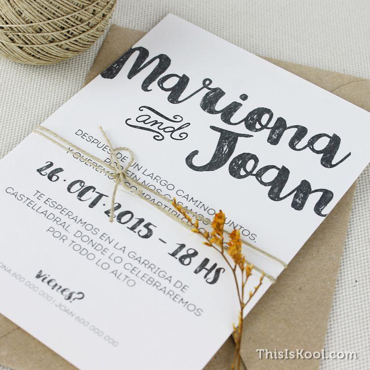 """Invitación de boda - """"CALIGRÁFICA"""""""