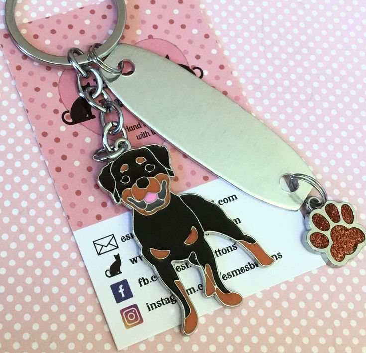 latest dog breed addition to my #etsyshop: #Personalised #Rottweilerkeyring, #Rottweilergift, Hand Stamped, Key Chain, Rottweiler keyring ,Dog Lover, dog gift, for her, for him #accessories #keychain #black #birthday #brown #fathersday #rottweilerowner #rottweilerkeychain