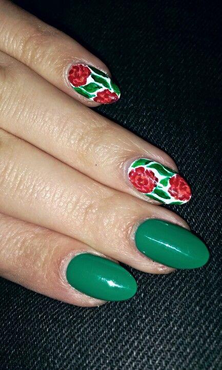 Green and roses / Zieone z różami