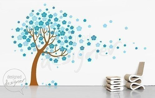 Nursery ,children, baby, flower - Cherry Blossom Tree Wall Decal Wall Sticker