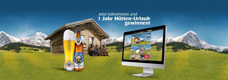 #Franziskaner – 1 Jahr #Hütten-#Urlaub gewinnen!  – mehr #Cases auf: http://www.departmentone.com/agentur/cases/