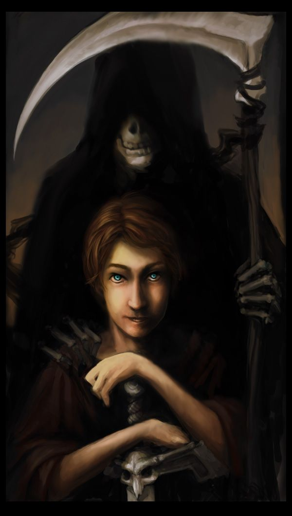 """discworld: The Apprentice by ~TeaBeforeWar on deviantART  """"DEATH IS WHOEVER DOES DEATH'S JOB."""""""