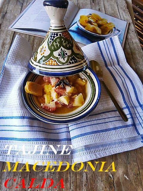 Cucina Mon Amour: Tajine di Macedonia Calda con Crumble di Biscotti