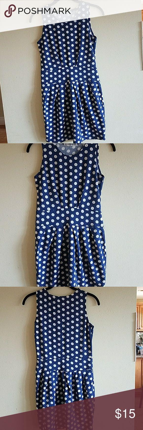 Summer Blue polka dot mini dress from Korea♡ lightweight polka dot mini dress from korea Dresses Mini