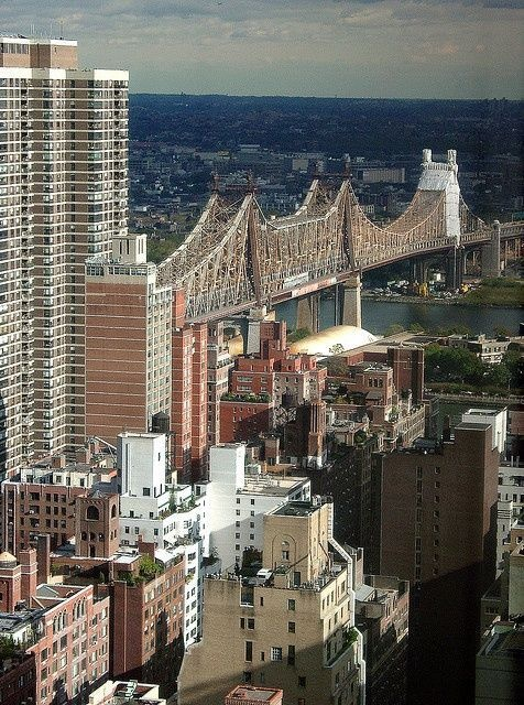 ☮✿★ NYC ✝☯★☮ The Queensboro Bridge - The Ed Koch Queensboro Bridge, also known as the 59th Street Bridge – because its Manhattan end is located between 59th and 60th Streets – or simply the Queensboro Bridge, is a cantilever bridge over the East River in New York City that was completed in 1909