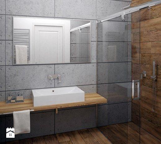 Aranżacje wnętrz - Łazienka: Łazienka beton architektoniczny - Gotowe Wnętrza. Przeglądaj, dodawaj i zapisuj najlepsze zdjęcia, pomysły i inspiracje designerskie. W bazie mamy już prawie milion fotografii!