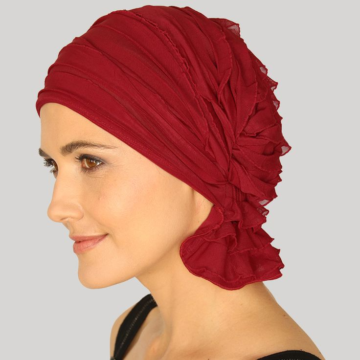 NANCY | Chemo Beanies® original slip-on head cover for women in treatment for Cancer or other medical hair loss. One Size, head scarf accessory; alternative to wigs, turbans, hard to tie scarves; Made by Women enduring Chemotherapy as a full coverage, effortless, fashionable solution for those looking for chemo cap, chemo comfort, chemo hat, head wrap, and head scarves. Elastic, comfortable fabrics provide stretch to fit bald head. Soft material to prevent irritation to sensitive head.