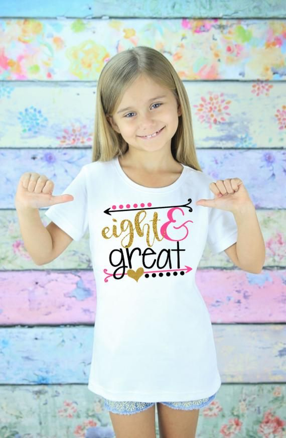 Print my Tee Unicorn Personalised T Shirt Birthday Girl Glitter Birthday Outfit Age 2-3 to Age 12-13