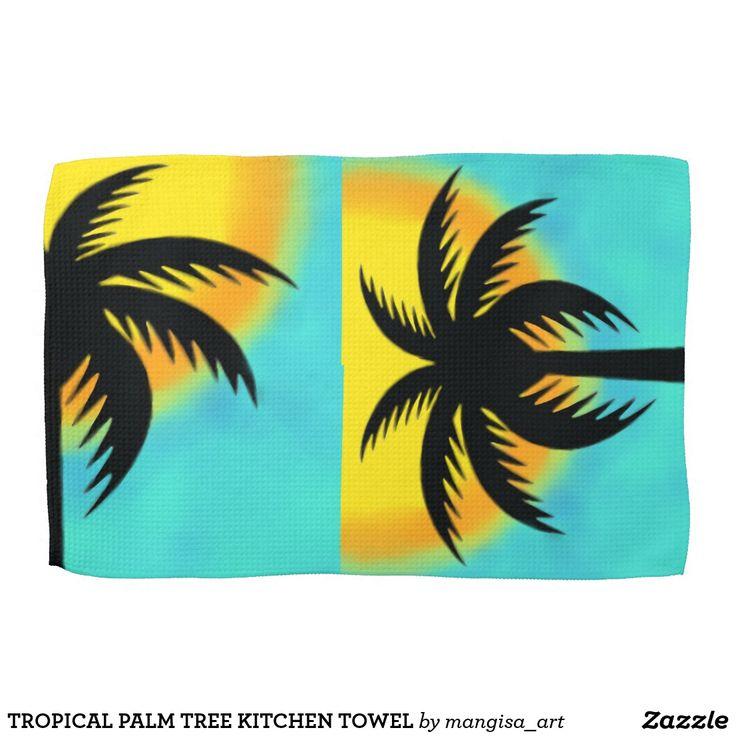 TROPICAL PALM TREE KITCHEN TOWEL
