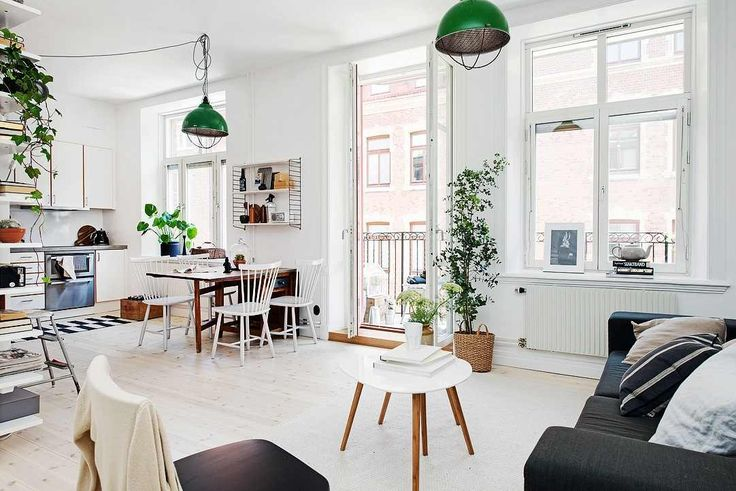 Perfectly Organized One-Room Scandinavian Crib With Bright Interiors