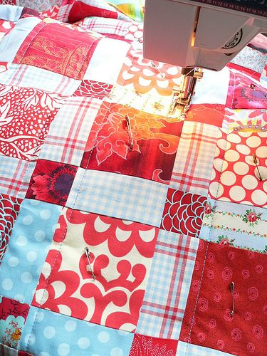 tips for easy machine quilting (not very involved, but covers the basics)