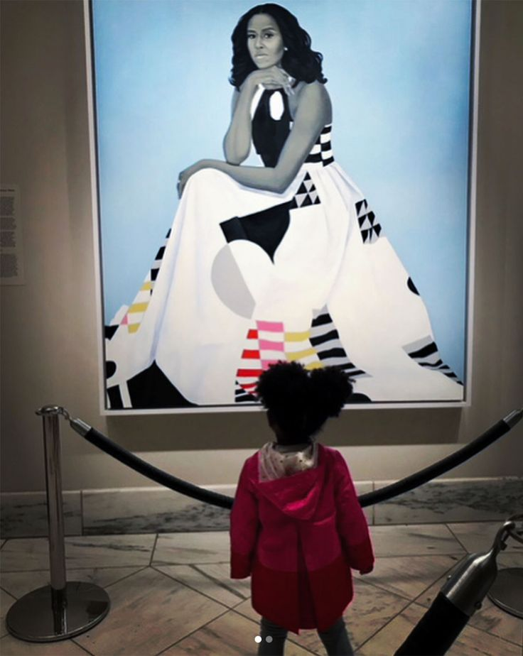 Little Girl Captivated by Michelle Obama's Portrait Thought She Was a Queen