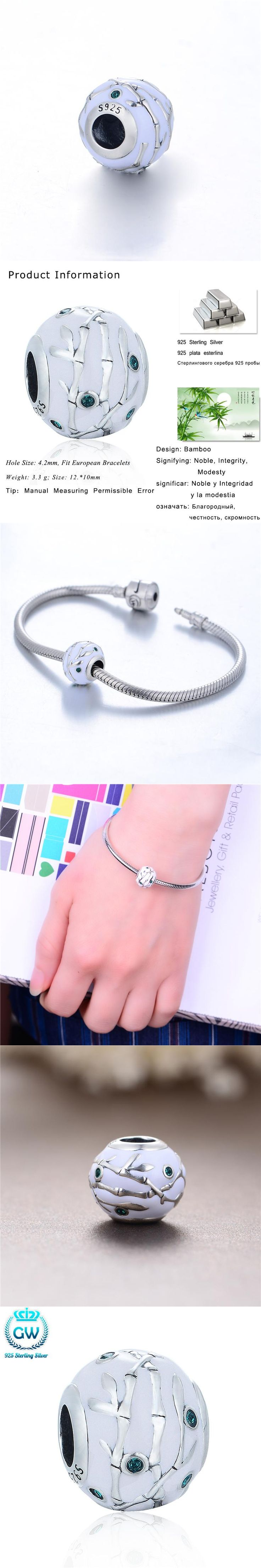 Fashion Chinese Style 925 Sterling Silver Enamel Charm Fit Snake Bracelet Women Bamboo Bead Brand Aimili