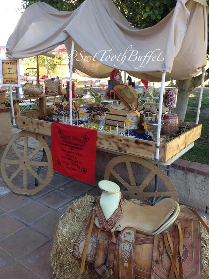 Cowboy Party Candy Buffet Desserts and Cake | Cowboy Themed Birthday Party in 2019 | Pinterest ...