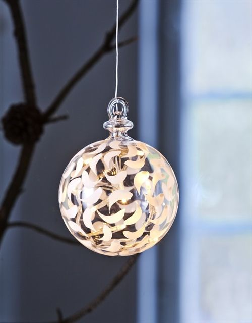 Perfect  Weihnachtsdekoration Sirius Sirius Home Dekorative Beleuchtung Wei Transparent Batterie Akku