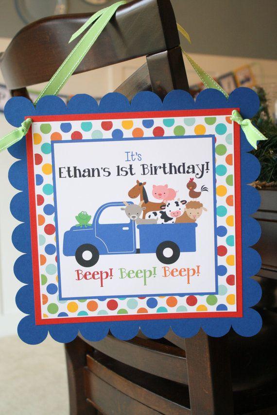Little Blue Truck Door Sign Little Blue Truck by thelovelyapple