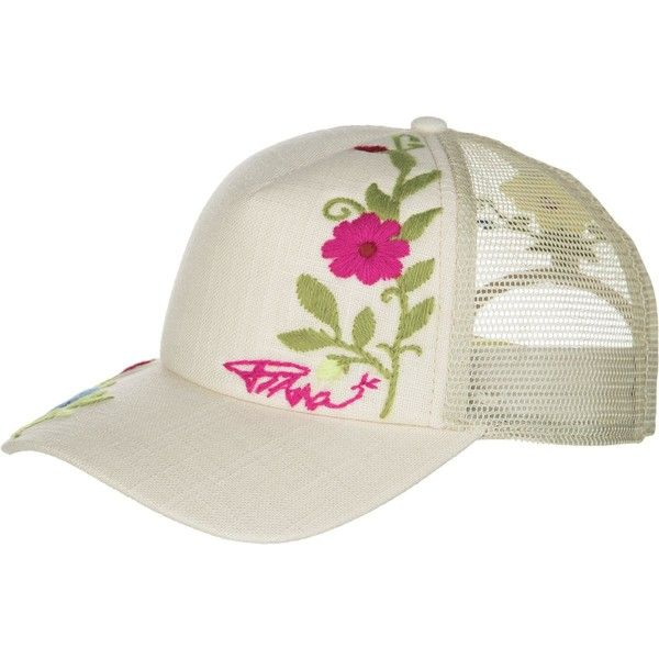Prana Embroidered Trucker Hat ($23) ❤ liked on Polyvore featuring accessories, hats, prana, mesh trucker hats, trucker mesh cap, truck caps and prana hats
