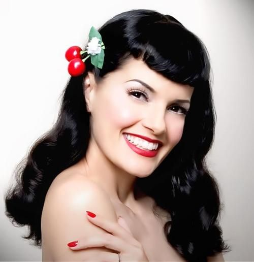1000 images about rockabilly hairstyles on pinterest victory rolls rockabilly hair and. Black Bedroom Furniture Sets. Home Design Ideas