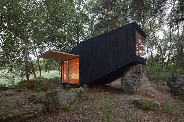"Built by Uhlik architekti in , Czech Republic with date 2013. Images by Jan Kudej. Our client contacted us with an idea to create a hideaway in the countryside where he could ""hole up"" and gather stre..."