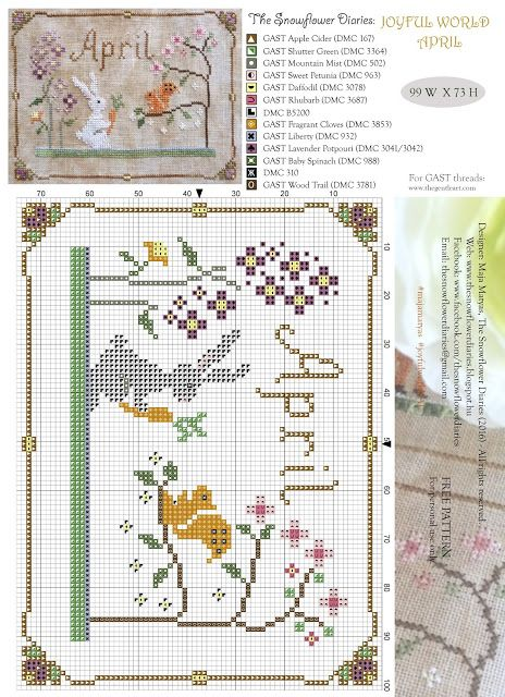 The Snowflower Diaries: JOYFUL WORLD - APRIL PATTERN:-)