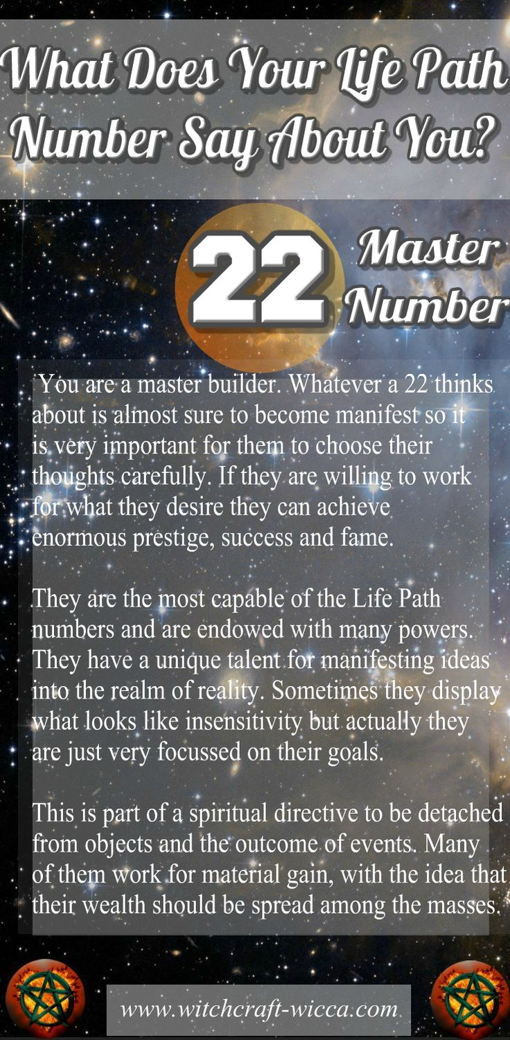 You can be very ambitious. You'll do whatever it takes to get what you want. Giving up is not an option for you. You won't stop unless you reach that goal. #LifePath #Number22 - Powerful and fruitful #Numerology Master Builder.