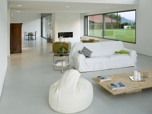 Private home - Smooth concrete flooring