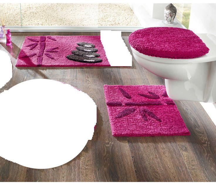 Schön BADGARNITUR 3 Tlg. NEU! BEERE HÄNGE WC, DECKEL, BADMATTE 90x50 Cm