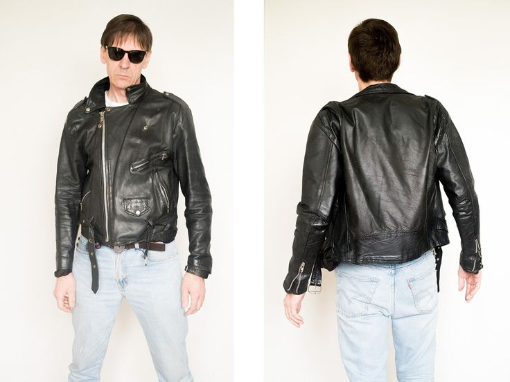 Leather Iconic: Ramones Jacket. High Quality of sewing and heavy leather . This…