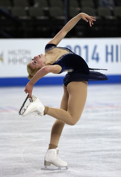 Gracie Gold, 2014 Hilton HHonors Skate America, Blue figure skating dress inspiration for Sk8 Gr8 Designs