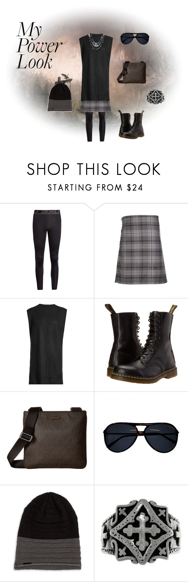 """Power Look Men's"" by jonny-kratavil-boquet ❤ liked on Polyvore featuring 2XU, Rick Owens, Dr. Martens, Michael Kors, Tom Ford, Calvin Klein and Carolina Glamour Collection"