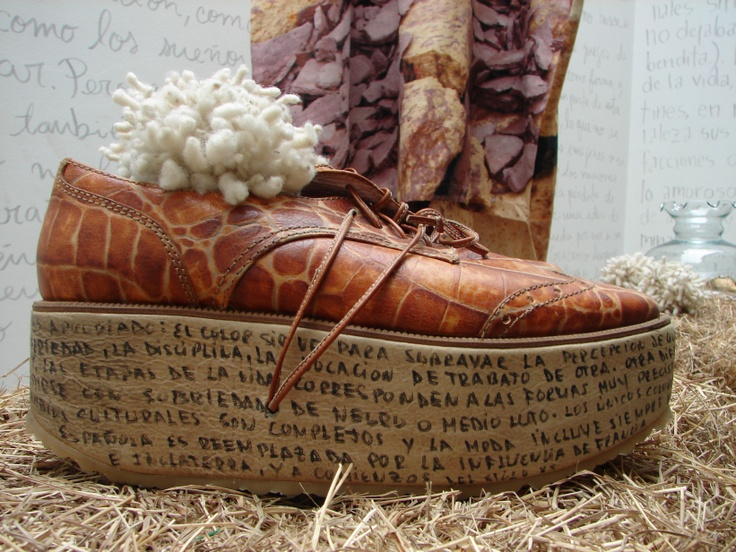 Olga Piedrahita Runway shoe used as decoration
