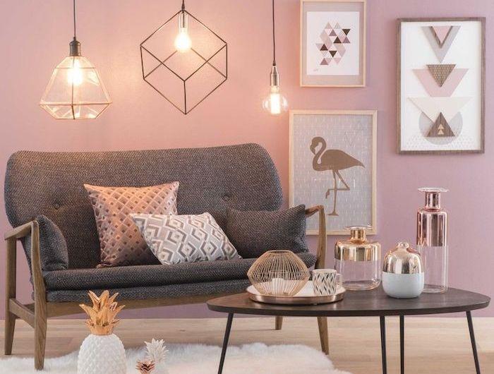 1001 Ideen Zum Thema Welche Farben Passen Zusammen Altrosa Wandfarbe Wandgestaltung Wohnzimmer Farbe Graues Sofa