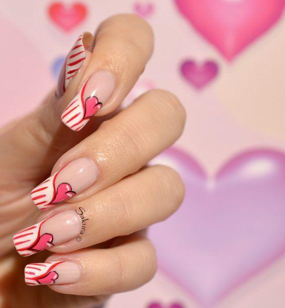 nail art la valentine