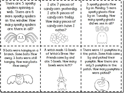 story problems,You can copy this, save it to your Math Problems Folder for.  Halloween MathHalloween StoriesSpooky StoriesHalloween Themes1st Grade