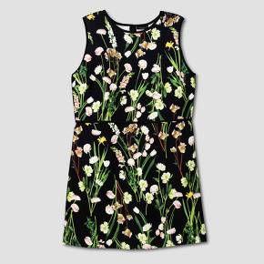 Women's Plus Black English Floral Satin Dress - Victoria Beckham for Target : Target