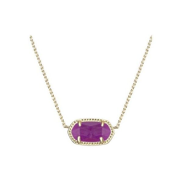 Kendra Scott Elisa Pendant Necklace in Purple Jade ($50) ❤ liked on Polyvore featuring jewelry, necklaces, layered necklace, purple jade pendant, 14k necklace, chain statement necklace and jade necklace pendant