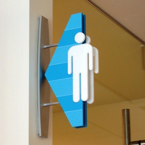 Toilet sign - man