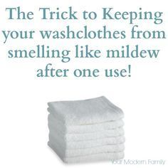 keep towels smelling great - if you towels smell like mildew, here's how to stop it.
